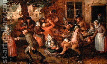 Peasants Merrymaking by David Vinckboons - Reproduction Oil Painting