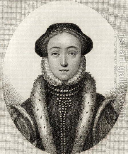 Lady Jane Grey, from A Catalogue of the Royal and Noble Authors, published 1806 by (after) Virtue, George - Reproduction Oil Painting