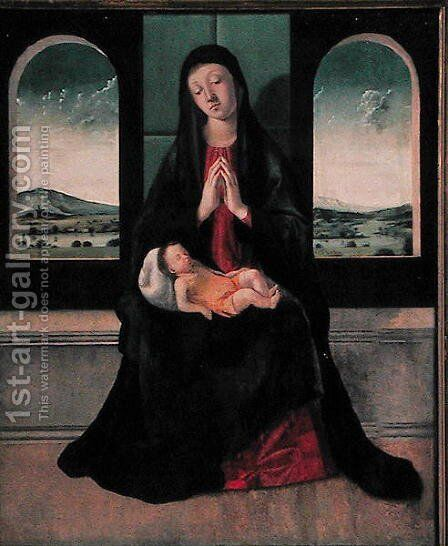 Madonna and Child by Alvise Vivarini - Reproduction Oil Painting