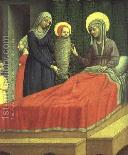 The Birth of St. Augustine, c.1440-50 by Antonio Vivarini - Reproduction Oil Painting