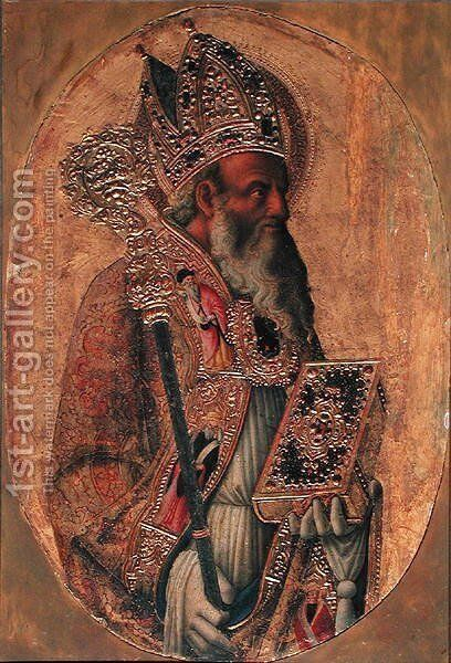 St. Ambrose by Antonio Vivarini - Reproduction Oil Painting