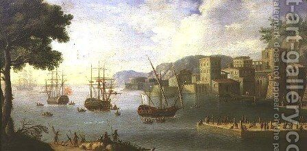 The Port of Leghorn by Antonio Maria Viviani - Reproduction Oil Painting
