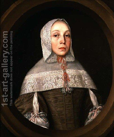 Portrait of a Woman by (attr. to) Vliet, Willem van der - Reproduction Oil Painting