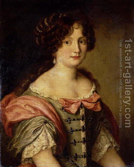 Portrait of a young lady by Jacob Ferdinand Voet - Reproduction Oil Painting
