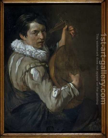 The Lute Player by Arie de Vois - Reproduction Oil Painting