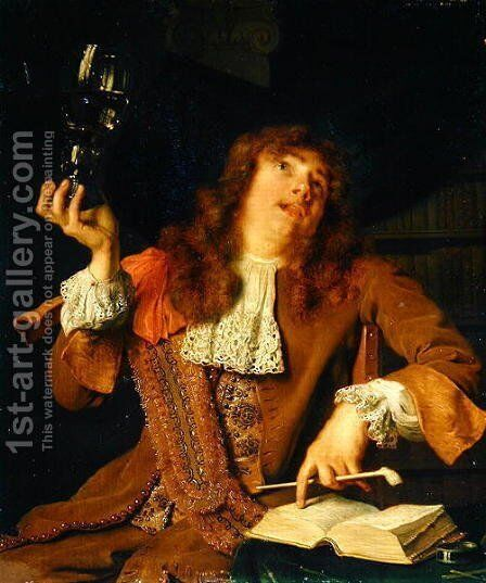 The Wanton Student, 1678 by Arie de Vois - Reproduction Oil Painting