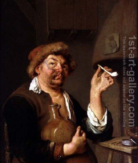 The Smoker by Arie de Vois - Reproduction Oil Painting