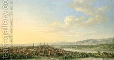 Dresden by Johann Christian Vollerdt or Vollaert - Reproduction Oil Painting