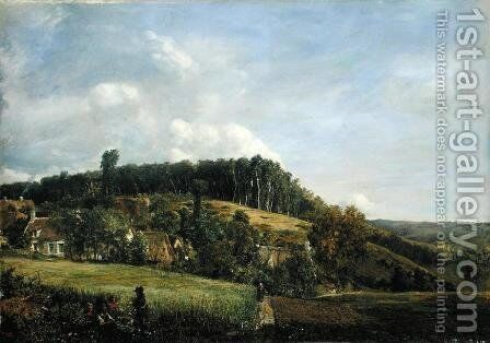 Landscape in Northern Germany by Adolf Vollmer - Reproduction Oil Painting