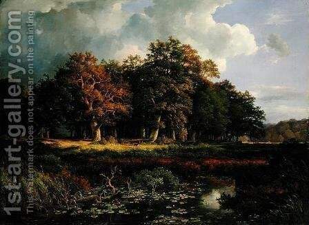 The Stangenmuhlengrund in Sachsenwald, 1852 by Adolf Vollmer - Reproduction Oil Painting