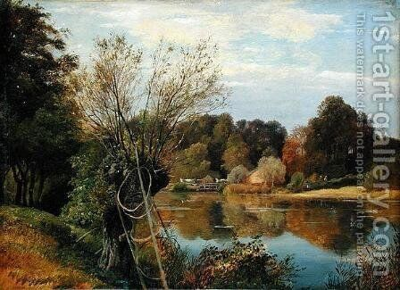 Near the Aumuhle, c.1830 by Adolf Vollmer - Reproduction Oil Painting