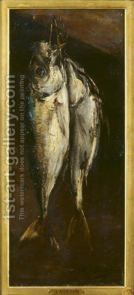 Fish by Antoine Vollon - Reproduction Oil Painting