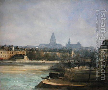 Ile de la Cite, Paris by Antoine Vollon - Reproduction Oil Painting