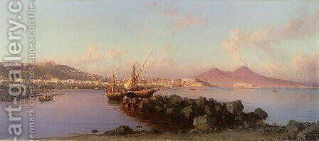 View of the Bay of Naples by Alessandro la Volpe - Reproduction Oil Painting