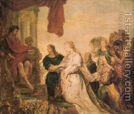 The Continence of Scipio by Cornelis De Vos - Reproduction Oil Painting