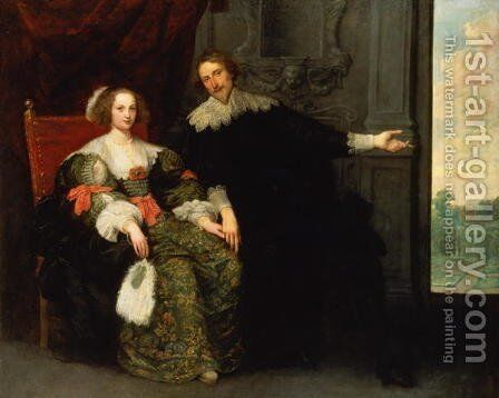Portrait of a man and his wife by Cornelis De Vos - Reproduction Oil Painting
