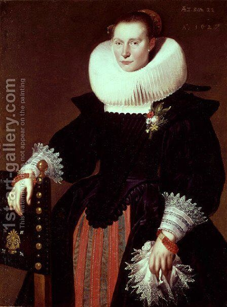 Portrait of a Woman by Cornelis De Vos - Reproduction Oil Painting