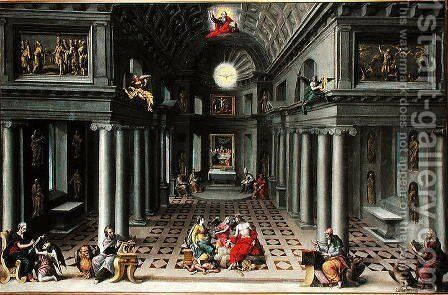 The Triumph of the Church or An Allegory of Christianity by Hans Vredeman de Vries - Reproduction Oil Painting