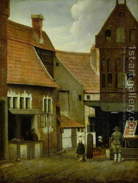 Street Scene by Jacobus Vrel - Reproduction Oil Painting