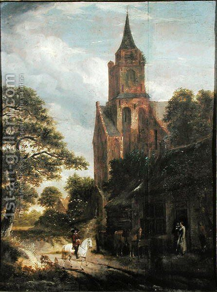 Landscape by Michiel van Vries - Reproduction Oil Painting