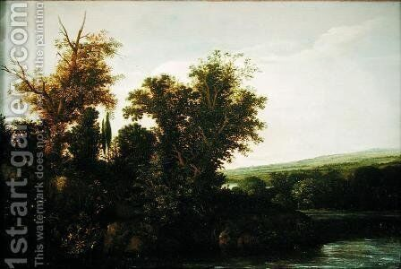 Wooded Landscape 2 by Cornelis Hendricksz. The Younger Vroom - Reproduction Oil Painting