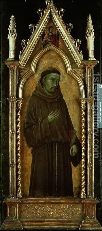St. Francis of Assisi by di Nerio Ugolino - Reproduction Oil Painting