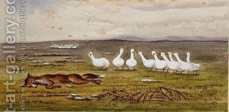 A Game of Fox and Geese by James W. Usher - Reproduction Oil Painting