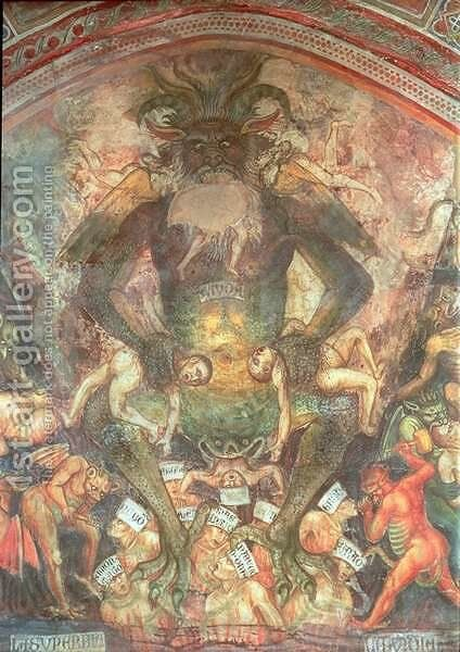 The Last Judgement, detail of the Leviathan, c.1394 by Taddeo Di Bartolo - Reproduction Oil Painting