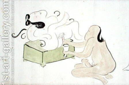 A Shunga 2 by Ike no Taiga - Reproduction Oil Painting