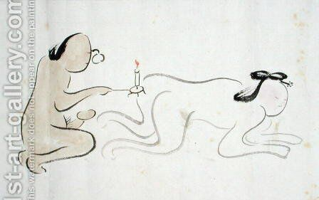 A Shunga 3 by Ike no Taiga - Reproduction Oil Painting
