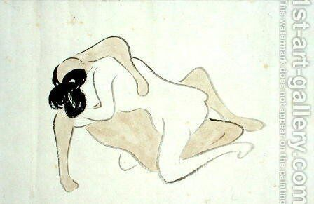 A Shunga 10 by Ike no Taiga - Reproduction Oil Painting