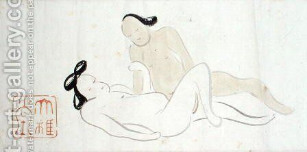 A Shunga 11 by Ike no Taiga - Reproduction Oil Painting