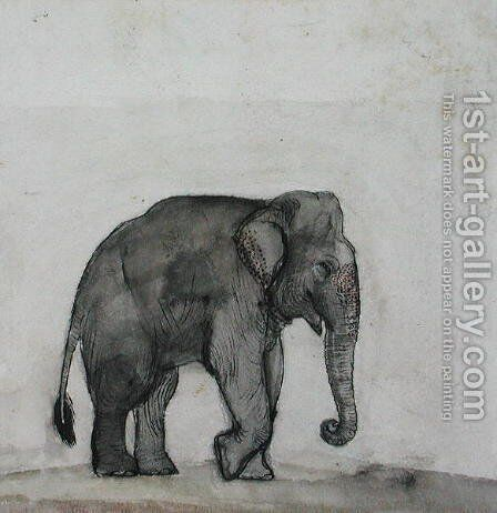 Elephant, c.1790 by Gungaram Tambat - Reproduction Oil Painting