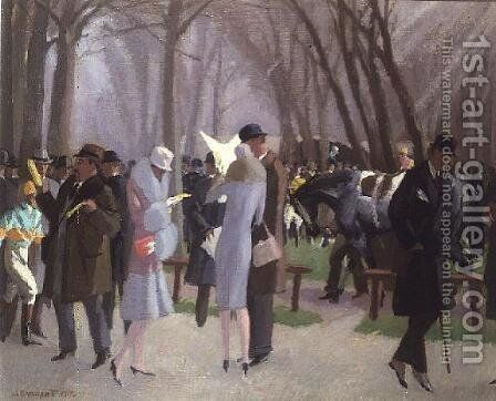 A Day at the Races, 1926 by Maurice Taquoy - Reproduction Oil Painting