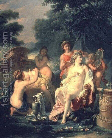 Venus at her Toilet, 1760 by Hugues Taraval - Reproduction Oil Painting