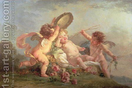 The Waking of Cupid, 1781 by Hugues Taraval - Reproduction Oil Painting