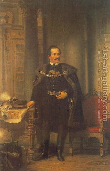 Desseweffy Emil, 1866 by Miklos Barabas - Reproduction Oil Painting