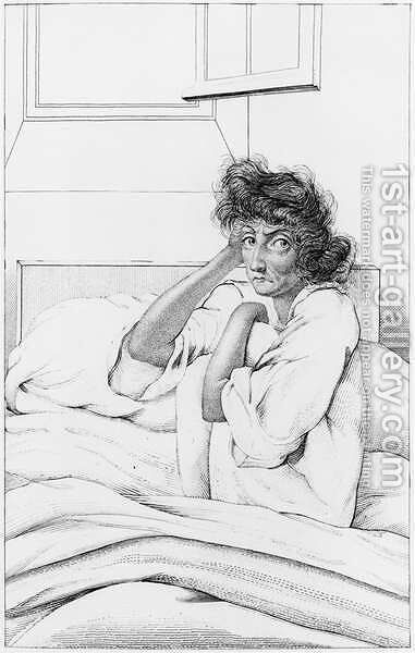 Depressive woman, illustration from Des Maladies Mentales considerees sous le rapport medical, hygienique et medico-legal by Etienne Esquirol 1772-1840 1838 by Ambroise Tardieu - Reproduction Oil Painting