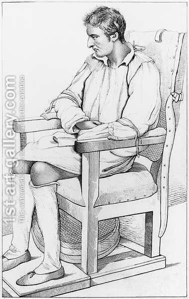 Dementia, illustration from Des Maladies Mentales considerees sous le rapport medical, hygienique et medico-legal by Etienne Esquirol 1772-1840 1838 by Ambroise Tardieu - Reproduction Oil Painting