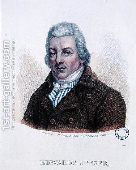 Portrait of Edward Jenner 1749-1823 by Ambroise Tardieu - Reproduction Oil Painting