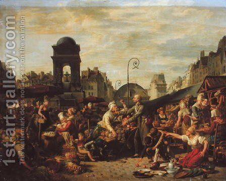 The Marche des Innocents, c.1814 by Jean-Charles Tardieu - Reproduction Oil Painting