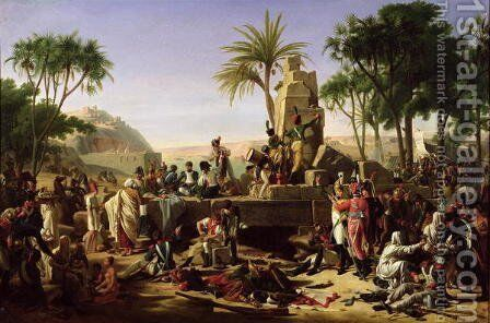Troops halted on the Banks of the Nile, 2nd February 1799, 1812 by Jean-Charles Tardieu - Reproduction Oil Painting