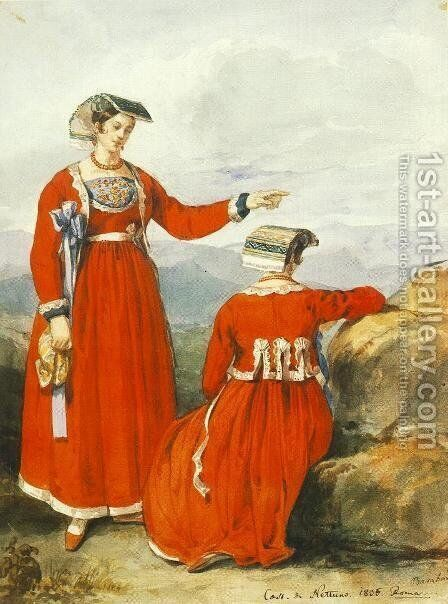 Nettunoi nok, 1835 by Miklos Barabas - Reproduction Oil Painting