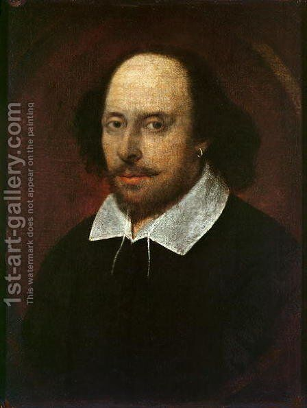 Portrait of William Shakespeare 1564-1616 c.1610 by John Taylor - Reproduction Oil Painting