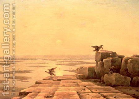 Overflow of the Nile, 1842 by Grigory Tchernezov - Reproduction Oil Painting