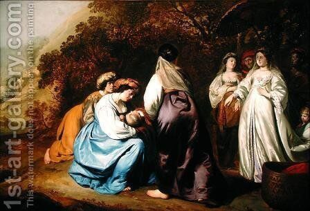 The Finding of Moses by Abraham van den Tempel - Reproduction Oil Painting