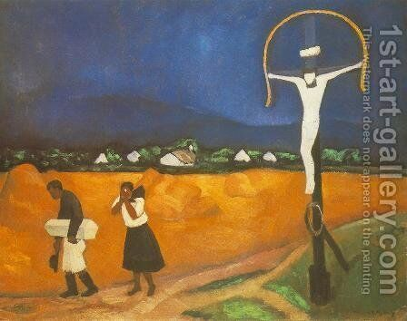 Gyermektemetes, 1910 by Dezso Czigany - Reproduction Oil Painting