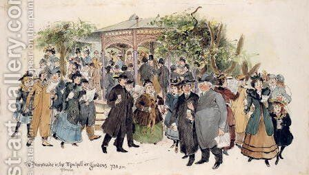 The Promenade in Montpellier Gardens by H.P. Templer - Reproduction Oil Painting