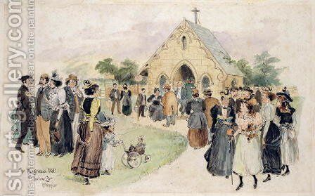 The Magnesia Well, Harlow Carr by H.P. Templer - Reproduction Oil Painting