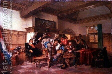 The Warriors Story by Herman Frederick Carel Ten Kate - Reproduction Oil Painting